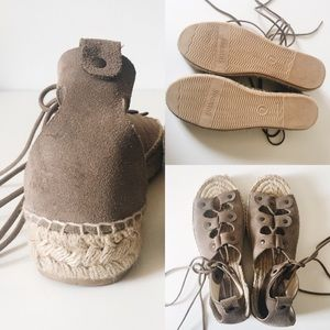 864f6ca1d6 Soludos Shoes | Ghillie Lace Up Suede Espadrilles | Poshmark